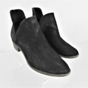 Lucky Brand Loria Slip On Black Suede Booties Sz 8